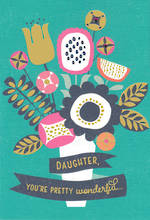 Daughter Birthday Card Hallmark Wonderful Modern