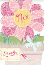 Grandmother Birthday Card Hallmark Nan Cutout Flower
