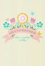 Grandmother Birthday Card Hallmark Flowers