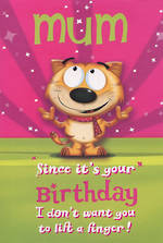 Mum Birthday Card Hallmark Don't Lift A Finger