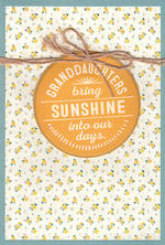 Grandaughter Birthday Card Hallmark Large Sunshine