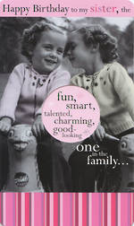 Sister Birthday Card: Humourous Fun Smart Talented