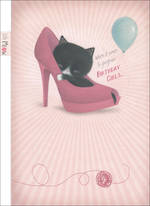 Hallmark Female Birthday Card Kitten In Shoe
