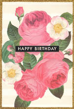 Hallmark Female Birthday Card Embossed Flowers