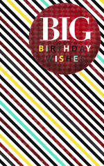 Hallmark Male Birthday Card: Red Circle