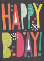 Hallmark Male Birthday Card: Happy Birthday Text