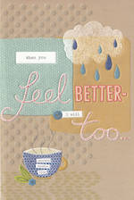 Get Well Card Raindrops
