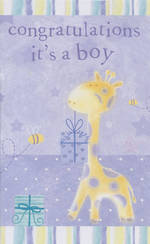 Hallmark Value: Baby Boy Blue Giraffe
