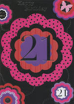 Hallmark Value: Age 21 Fem Black & Pink