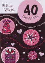 Hallmark Value Age 40 Female Pink