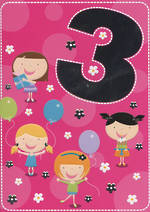 Hallmark Value Age 3 Girl Balloons