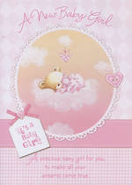 Hallmark Value: Baby Girl Pink Bear