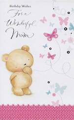 Hallmark Value: Birthday Mum Bear Bttrflies