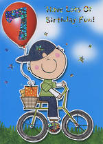 Hallmark Value: Age 7 Boy On Bike