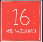 Birthday Age Card 16 Male Happy Jackson