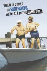 Hallmark Humorous Birthday Card: Same Boat