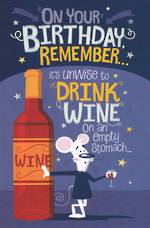 Hallmark Humorous Birthday Card: Unwise to Drink