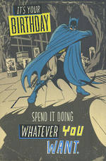 Hallmark Humorous Birthday Card Juvenile Boy Batman Tights