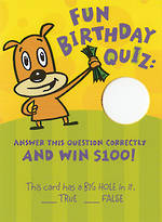 Hallmark Humorous Birthday Card: Fun Quiz
