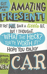 Hallmark Humorous Birthday Card: Amazing Present
