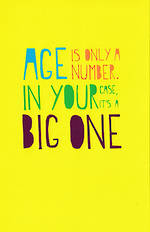 Hallmark Humorous Birthday Card: Big One