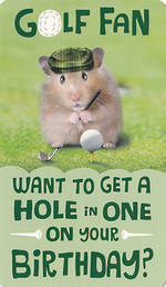 Hallmark Humorous Birthday Card: Golf Fan