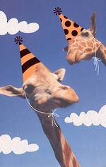Hallmark Humorous Birthday Card: Giraffes