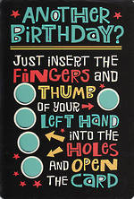 Hallmark Humorous Birthday Card: Thumbs New