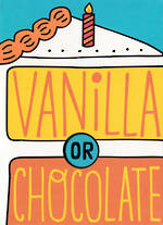 Hallmark Humorous Birthday Card: Vanilla Chocolate