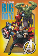 Hallmark Interactive Birthday Card Boy Avengers