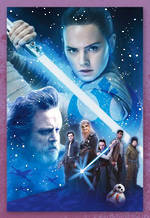 Hallmark Interactive Birthday Card Star Wars Episode VIII Rey & Luke