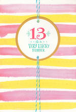 Age Card 13 Girl Teen Stripes