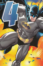 Birthday Age Card 4 Boy Batman
