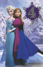 Age Card 4 Girl Frozen