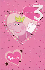 Age Card 3 Girl Peppa Pig