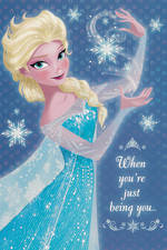 Hallmark Badge Candy Girl Frozen Elsa