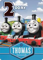 Birthday Age Card 2 Boy Thomas Tank