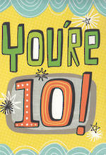 Birthday Age Card 10 Boy High Five
