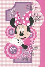 Age Card 1 Girl Minnie Mouse