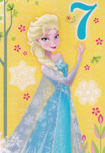 Age Card 7 Girl Disney Frozen Elsa