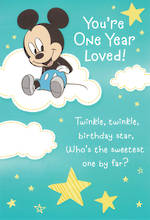 Age Card 1 Boy Mickey Mouse Twinkle