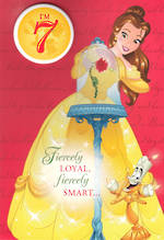 Age Card 7 Girl Belle Disney