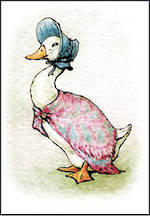 Mini Card Beatrix Potter Jemima Puddle-Duck
