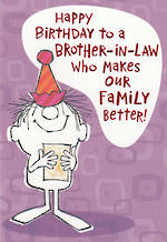 In Laws Birthday Card Hallmark Brother In Law Better