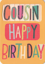 Cousin Birthday Card Male Cutout