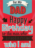 Dad Birthday Card Hallmark Humour Red Who I Am