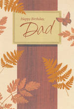 Dad Birthday Card Hallmark Bronze Leaves