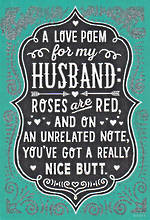 Husband Birthday Card Hallmark Nice Butt