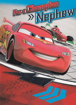 Nephew Birthday Card Lightning Mcqueen