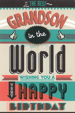 Grandson Birthday Card Hallmark Thumbs Up